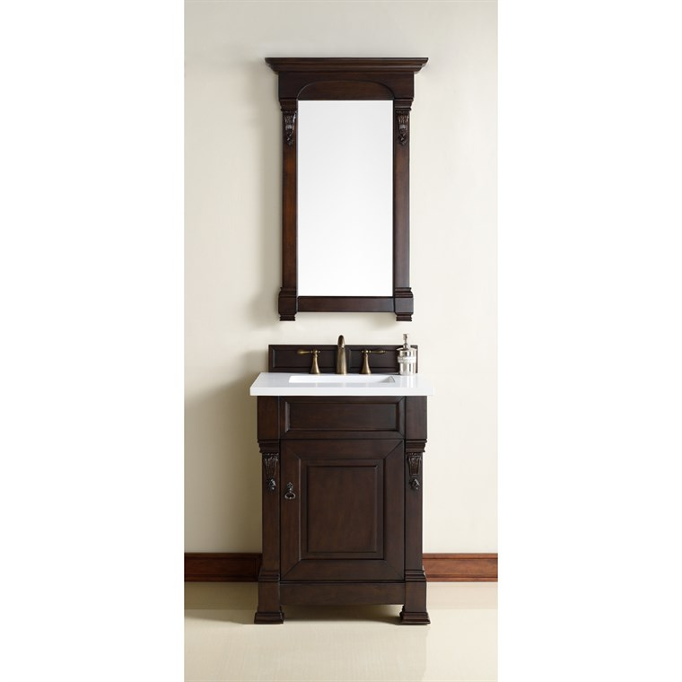 "James Martin 26"" Brookfield Single Cabinet Vanity - Burnished Mahogany 147-114-V26-BNM"