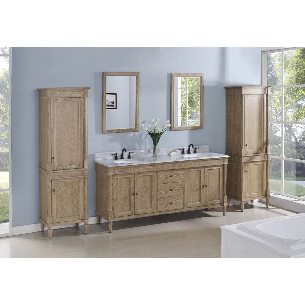 """Fairmont Designs Rustic Chic 72"""" Vanity-Double Bowl - Weathered Oaknohtin Sale $2510.00 SKU: 142-V7221D :"""