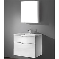 "Madeli Bolano 30"" Bathroom Vanity for Integrated Basin - Glossy White B100-30-022-GW"