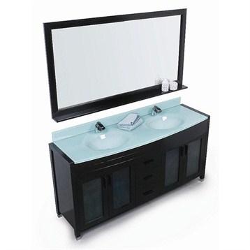 "Design Element Waterfall 60"" Double Sink Vanity Set, Espresso DEC016A by Design Element"