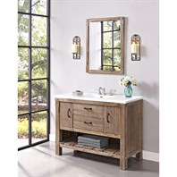 "Fairmont Designs Napa 48"" Open Shelf Vanity for Integrated Sinktop - Sonoma Sand 1507-VH48-"