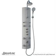 Bath Authority DreamLine Hydrotherapy Shower Column with Single Glass Shelf SHCM-27180 SHCM-27180