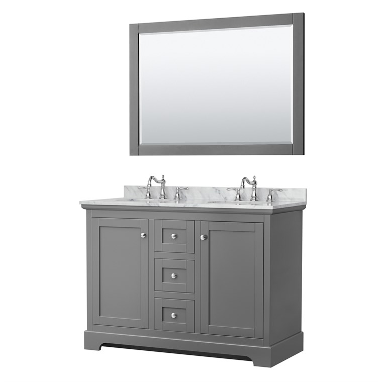 "Daria 48"" Single Bathroom Vanity by Wyndham Collection - Dark Gray WC-2525-48-SGL-VAN-DKG"