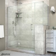 "DreamLine Unidoor-X 59 - 60"" W Hinged Shower Enclosure with 12"" W Inline Buttress Panel E59LRBUTTRESS"