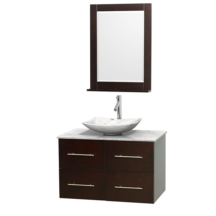 "Centra 36"" Single Bathroom Vanity for Vessel Sink by Wyndham Collection - Espresso WC-WHE009-36-SGL-VAN-ESP_"