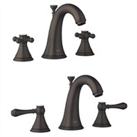 Grohe Geneva Low Spout Lavatory Wideset - Oil Rubbed Bronze