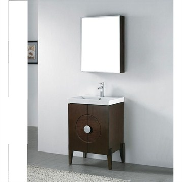 "Madeli Genova 24"" Bathroom Vanity with Integrated Basin, Walnut B922-24-001-WA by Madeli"