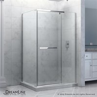 "Bath Authority DreamLine Quatra Frameless Pivot Shower Enclosure (58-3/8"" - 58-3/4"") SHEN-1134581"