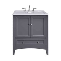 "Stufurhome 30.5"" Laundry Utility Sink Vanity - Gray GM-Y01G"