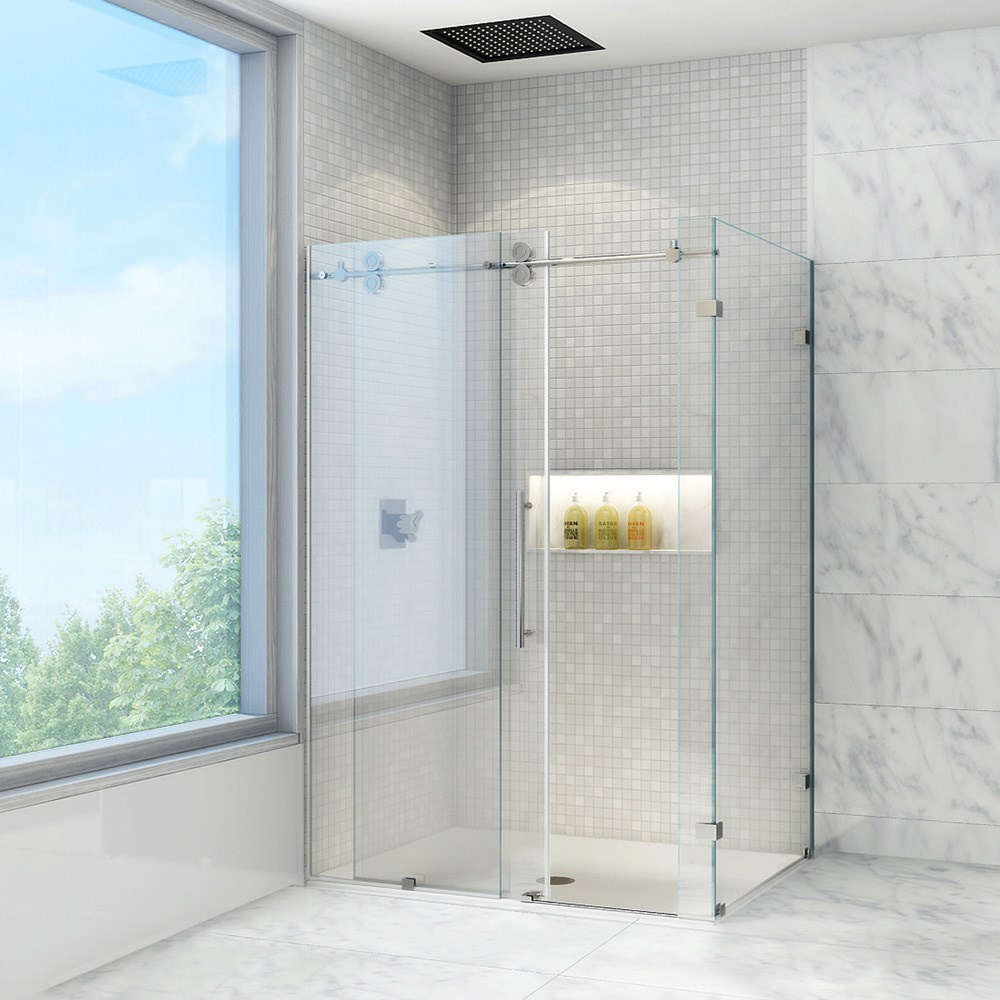 "Vigo Industries Frameless Rectangular Shower Enclosure - 36"" x 60""nohtin Sale $1970.99 SKU: VG06051-36-60 :"