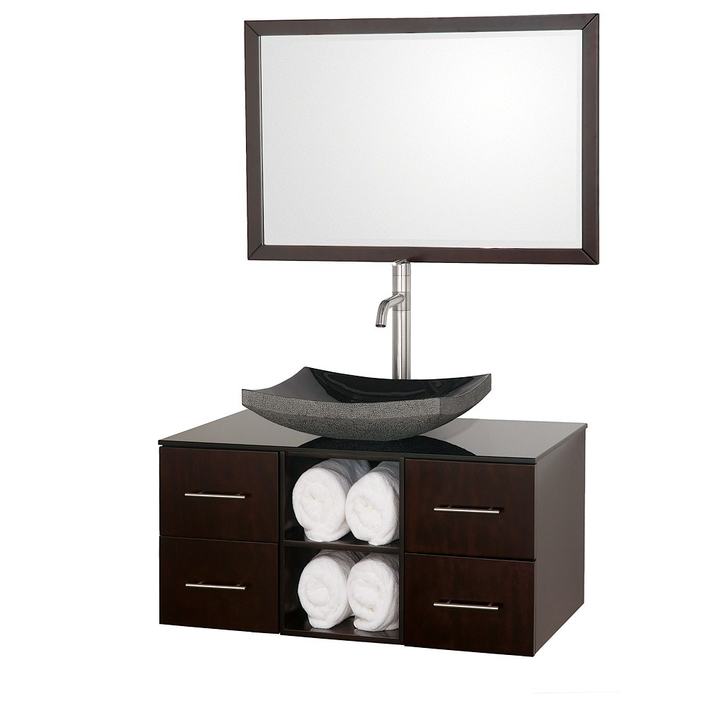 "Abba 36"" Vanity Set By Wyndham Collection - Espresso"