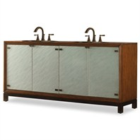 "Cole & Co. 78"" Designer Series Collection Isla Double Sink Chest - Sienna 11.24.275578.43"