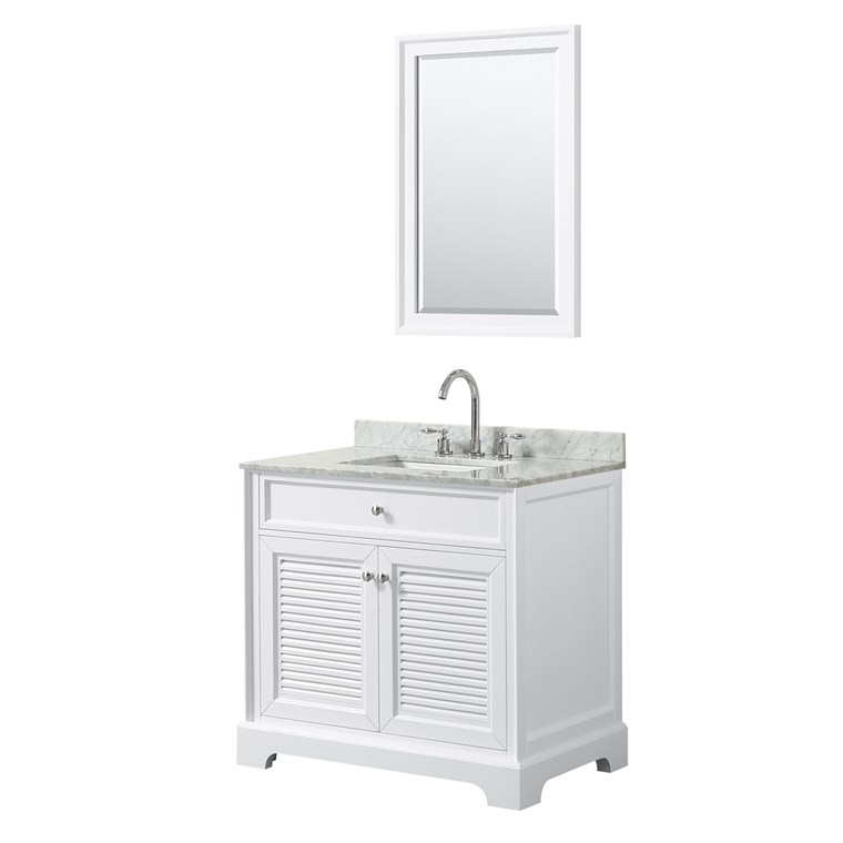 "Tamara 36"" Single Bathroom Vanity by Wyndham Collection - White WC-2121-36-SGL-VAN-WHT"