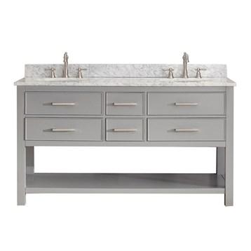 "Avanity Brooks 60"" Double Bathroom Vanity, Chilled Gray BROOKS-60-CG by Avanity"