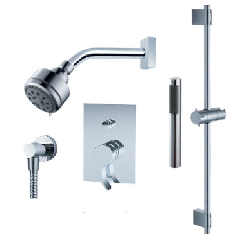 fluid Sublime - Handheld Shower Trim Set with Slide Bar F1354T