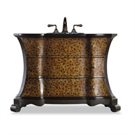 "Cole & Co. 51"" Designer Series Collection Madeleine Vanity - Black and Leapord 11.22.275551.44"