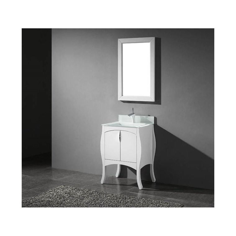 "Madeli Sorrento 27"" Bathroom Vanity for Integrated Basin - Glossy White B953-27-001-GW"
