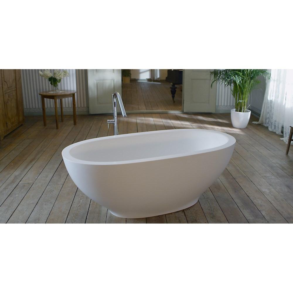 Aquatica Karolina Freestanding Solid Surface Bathtub - Fine Matte Whitenohtin Sale $4278.00 SKU: Aquatica PS503M-Wht :