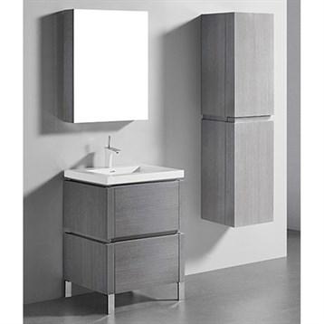 "Madeli Metro 24"" Bathroom Vanity for Integrated Basin, Ash Grey B600-24-001-AG by Madeli"