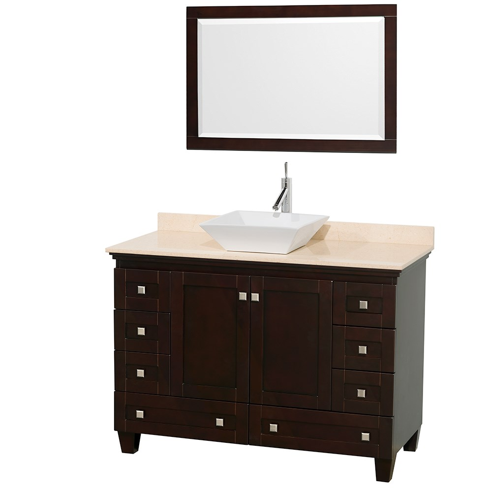 Acclaim 48 inch Single Bathroom Vanity for Vessel Sink by Wyndham Collection Espresso