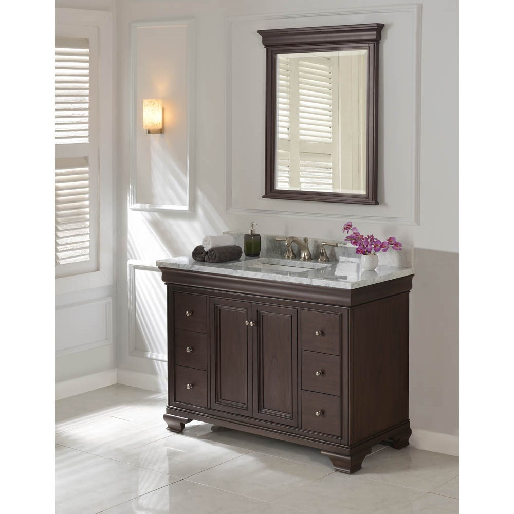 "Fairmont Designs Providence 48"" Vanity for Rectangular Sink - Aged Chocolatenohtin Sale $1775.00 SKU: 1529-V48_ :"
