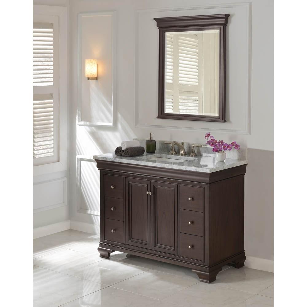 "Fairmont Designs Providence 48"" Vanity for Rectangular Sink - Aged Chocolatenohtin Sale $1775.00 SKU: 1529-V48_ :"