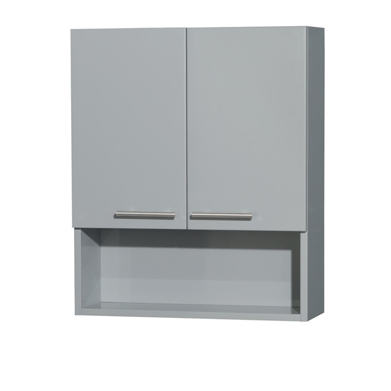 Amare Bathroom Wall Cabinet by Wyndham Collection - Dove Gray WC-RYV207-WC-DVG