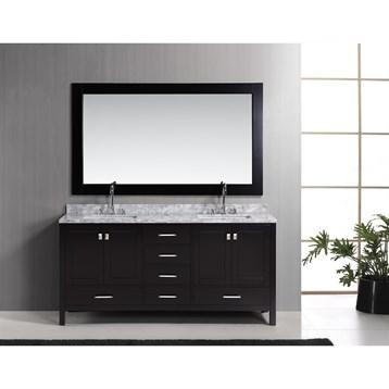 """Design Element London 72"""" Double Vanity Set, Espresso DEC082B by Design Element"""