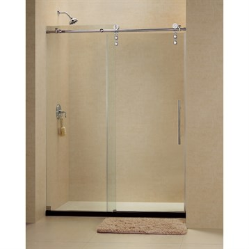 Bath Authority DreamLine Enigma-Z Fully Frameless Sliding Shower Door and SlimLine Single Threshold Shower Base,... by Bath Authority DreamLine