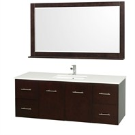 "Centra 60"" Single Bathroom Vanity Set by Wyndham Collection - Espresso WC-WHE009-60-SGL-ESP"