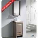 "Fresca Allier 16"" Gray Oak Modern Bathroom Vanity with Mirror FVN8118GO"