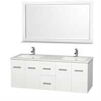 "Centra 60"" Double Bathroom Vanity Set by Wyndham Collection - White WC-WHE009-60-DBL-WHT"