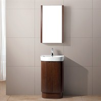 "Vigo 20"" Calantha Single Bathroom Vanity with Medicine Cabinet - Wenge VG09017118K"