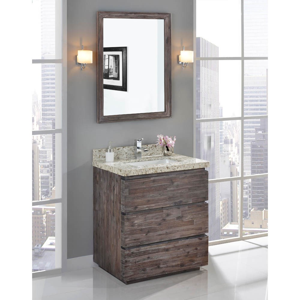 "Fairmont Designs Acacia 30"" Vanity for Quartz Top - Organic Brownnohtin Sale $1015.00 SKU: 1522-V30 :"