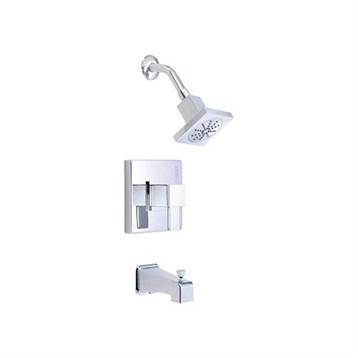 Danze Reef 1H Tub & Shower Trim Kit w/ Diverter on Spout 1.75gpm, Chrome D501033T by Danze
