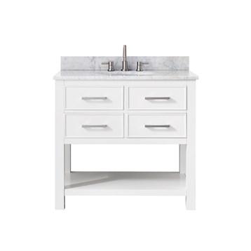 "Avanity Brooks 36"" Single Bathroom Vanity, White BROOKS-36-WT by Avanity"