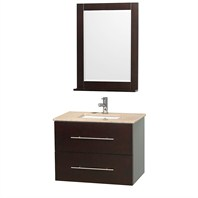 "Centra 30"" Single Bathroom Vanity Set by Wyndham Collection - Espresso WC-WHE009-30-ESP"