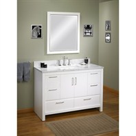 "Fairmont Designs Belleair Beach 48"" Vanity - High-gloss White Fairmont Designs 124-V48"