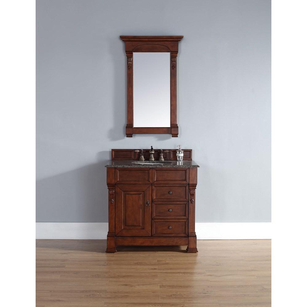 "James Martin 35"" Brookfield Single Vanity with drawers - Warm Cherrynohtin Sale $840.00 SKU: 147-114-5586 :"