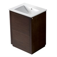 "Vigo 24"" Saba Single Bathroom Vanity - Wenge VG09020118K1"
