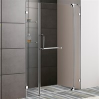 "VIGO 48-inch Frameless Shower Door 3/8"" Clear Glass VG6042-48-Frameless"