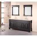 "Design Element Designer's Pick 72"" Double Sink Vanity Set - Espresso DEC081B"