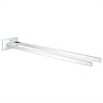 "Grohe Allure Brilliant 17"" Two-Arm Towel Bar, Starlight Chrome GRO 40496000 by GROHE"