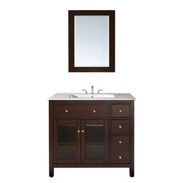 Drawer soft closing hardware white ceramic sink countertop and - Avanity Lexington 36 Quot Single Bathroom Vanity Light