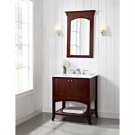 "Fairmont Designs Shaker 30"" Open Shelf Vanity for Integrated Top - Dark Cherry 125-VH30-"