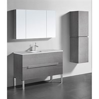 "Madeli Soho 48"" Single Bathroom Vanity for Quartzstone Top - Ash Grey B400-48C-001-AG-QUARTZ"