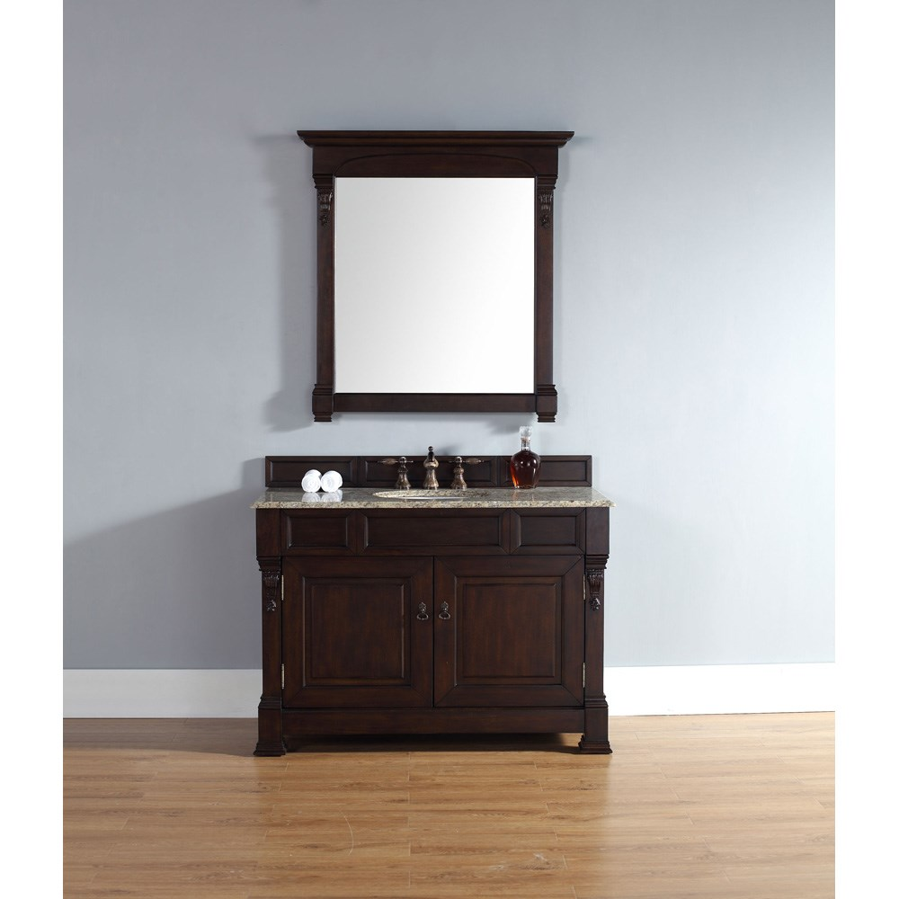 "James Martin 48"" Brookfield Single Cabinet Vanity - Burnished Mahoganynohtin Sale $1013.00 SKU: 147-114-5261 :"