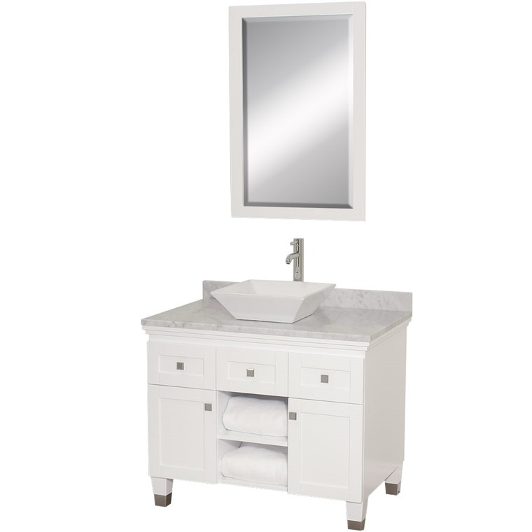 "Premiere 36"" Bathroom Vanity by Wyndham Collection - White WC-CG5000-36-WHT-"