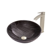 VIGO Interspace Glass Vessel Sink and Duris Faucet Set VGT682-