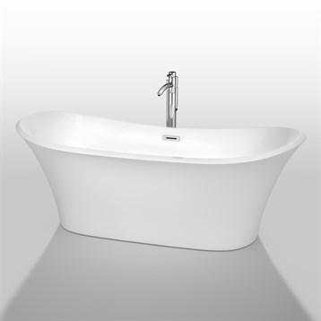 """Bolera 71"""" Soaking Bathtub by Wyndham Collection, White WC-BTK1528-71 by Wyndham Collection®"""